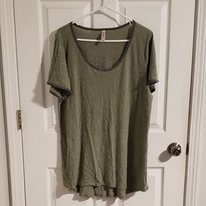 Lularoe Heathered Olive with Grey Perfect T